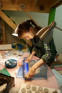 Приготовление глиняного полотна